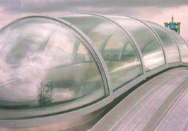 Polycarbonate barrel vault